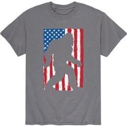 Instant Message Mens Men's Tee Shirts CHARCOAL - Charcoal Sasquatch Flag Tee - Men