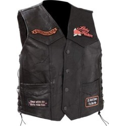 Diamond Plate™ Ladies' Rock Design Genuine Leather Vest found on Bargain Bro Philippines from Overstock for $62.99