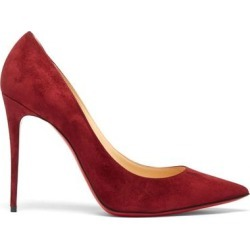 Kate 100 Suede Pumps - Red - Christian Louboutin Heels found on Bargain Bro from lyst.com for USD $528.20
