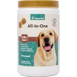 NaturVet All-In-One Support Soft Chews Dog Supplement, 120 count