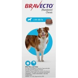 Bravecto For Large Dogs 44-88lbs (Blue) 2 Chews found on Bargain Bro Philippines from Canadapetcare.com for $82.80