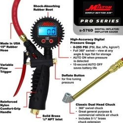 Milton Digital Inflator Gauge with Dual Head Chuck, Product Type Inflation Gauge, Head Type Dual, Material Combination, Model S-576D found on Bargain Bro from northerntool.com for USD $81.39