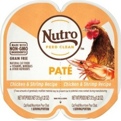 Nutro Perfect Portions Real Chicken and Shrimp Pate Wet Cat Food, 2.64 oz., Case of 24, 24 X 2.64 OZ