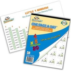 Channies Educational Workbooks - Single Digit Multiplication Workbook & Dry Erase Poster found on Bargain Bro from zulily.com for USD $8.35