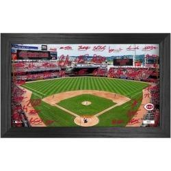 Cincinnati Reds Highland Mint 12'' x 20'' Facsimile Signature Field Framed Photo found on Bargain Bro from Fanatics for USD $45.59