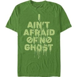 Fifth Sun Men's Tee Shirts KELLY - Ghostbusters Kelly Green Slime 'Ain't Afraid' Crewneck Tee - Men found on Bargain Bro India from zulily.com for $15.99