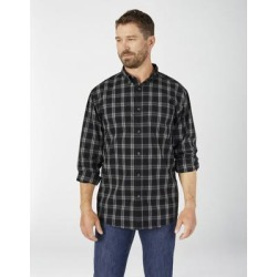 Dickies Men's Flex Relaxed Fit Long Sleeve Plaid Shirt - Black Size 4Xl (WL651) found on Bargain Bro India from Dickies.com for $32.99