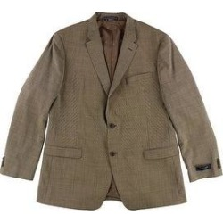 Tommy Hilfiger Mens Performance Two Button Blazer Jacket, Brown, 46 Long (Brown - 46 Long), Men's(polyamide, solid) found on Bargain Bro Philippines from Overstock for $181.66