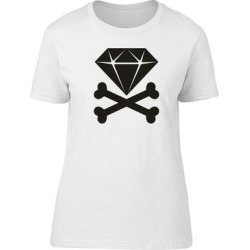 Diamond Crossed Bones Jewelry Tee Women's -Image by Shutterstock (XL), White found on Bargain Bro India from Overstock for $13.29