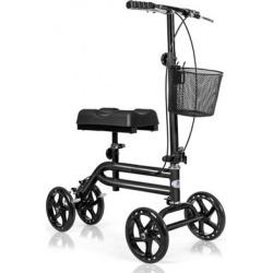 Costway Medical Steerable Knee Walker with Dual Braking System-Black found on Bargain Bro Philippines from Costway for $135.95