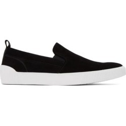 Black Suede Zero Tennis Slip-on Sneakers - Black - HUGO Sneakers found on Bargain Bro Philippines from lyst.com for $180.00