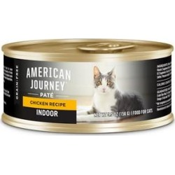 American Journey Indoor Pate Chicken Recipe Grain-Free Canned Cat Food, 5.5-oz, case of 24 found on Bargain Bro from Chewy.com for USD $24.08