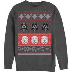 Fifth Sun Men's Sweatshirts and Hoodies CHAR - Charcoal Heather Star Wars Holiday Helmet Sweater - Men found on Bargain Bro from zulily.com for USD $21.27