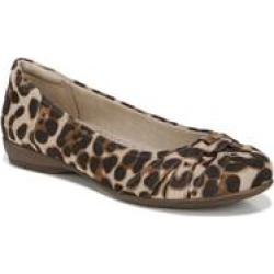 Women's Gift Ballet Flat by Naturalizer in Natural Cheetah (Size 8 1/2 M) found on Bargain Bro from fullbeauty for USD $45.59