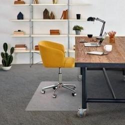 FloorTex Vinyl Chair mat for Plush Pile Carpet - Rectangular Size 48