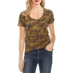 Vince Camuto Womens T-Shirt Camouflage Scoop Neck (Green Oasis - XXS), Women's(cotton) found on Bargain Bro India from Overstock for $15.04