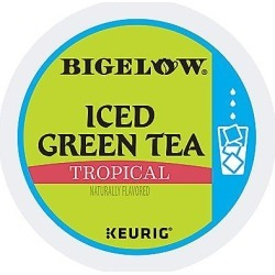 22 Ct Bigelow Tropical Iced Green Tea K-Cup® Pods. found on Bargain Bro from Keurig.com for USD $11.39
