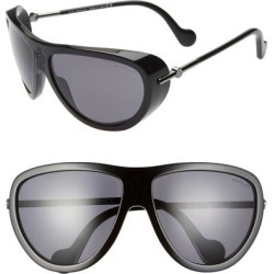 61mm Polarized Aviator Sunglasses - Black - Moncler Sunglasses found on Bargain Bro from lyst.com for USD $437.00