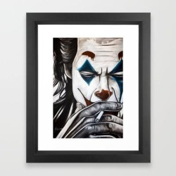 Framed Art Print | Joker Smoking by John Mcglynn - Vector Black - X-Small-10x12 - Society6 found on Bargain Bro from Society6 for USD $26.74