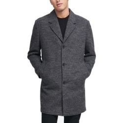 DKNY Mens Coat Gray Size XL Brushed Wool Notch-Lapel Button-Front (XL), Men's found on Bargain Bro Philippines from Overstock for $54.99