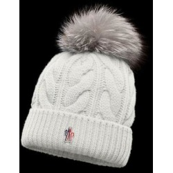 Moncler Cashmere Beanie - White - 3 MONCLER GRENOBLE Hats found on Bargain Bro from lyst.com for USD $376.20