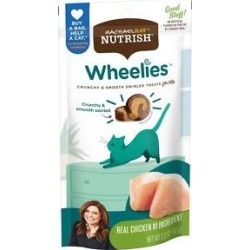 Rachael Ray Nutrish Wheelies Real Chicken Crunchy & Smooth Swirled Cat Treats, 2.2-oz pouch found on Bargain Bro Philippines from Chewy.com for $1.69