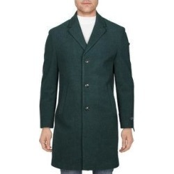 Tommy Hilfiger Mens Addison Coat Wool Blend Midi - Forest Green (42R), Men's, Dark Green found on Bargain Bro Philippines from Overstock for $95.29