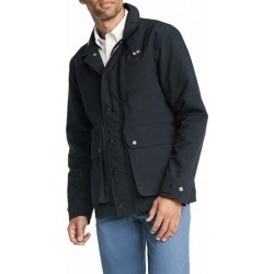 Tommy Hilfiger Mens Safari Jacket Navy Blue Small S Full-Zip Rainwear (S), Men's(polyester) found on Bargain Bro Philippines from Overstock for $94.98