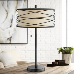 Lite Source Lumiere Black Metal Table Lamp found on Bargain Bro Philippines from LAMPS PLUS for $165.00