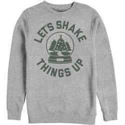 Fifth Sun Men's Sweatshirts and Hoodies ATH - Heather Gray Snow Globe 'Let's Shake Things Up' Crewneck Sweater - Men found on Bargain Bro Philippines from zulily.com for $19.99