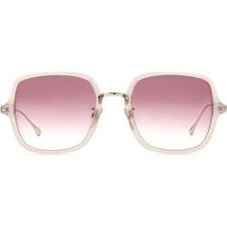 55mm Square Sunglasses - Nude Palladium/ Burgundy Shade - Purple - Isabel Marant Sunglasses found on Bargain Bro India from lyst.com for $265.00