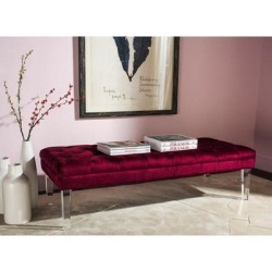 Safavieh Abrosia Red Acrylic Leg Bench - 62.6