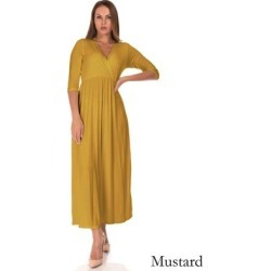 SR Women's Casual Maternity V Neck Wrap Floor Length Maxi Dress found on Bargain Bro Philippines from Overstock for $32.99