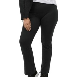 Plus Size Women's Knit Bootcut Leggings by ellos in Black (Size 26/28) found on Bargain Bro Philippines from Ellos for $21.90
