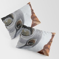 Pillow Sham | French Breakfast, Coffee And Croissant, Original Oil Painting, Daily Art by Teslimovka - STANDARD SET OF 2 - Cotton - Society6 found on Bargain Bro from Society6 for USD $30.39