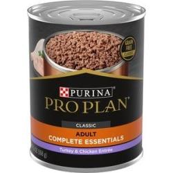 Purina Pro Plan Savor Classic Turkey & Chicken Entree Grain-Free Canned Dog Food, 13-oz, case of 12