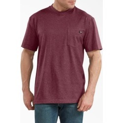 Dickies Men's Short Sleeve Heavyweight Heathered T-Shirt - Burgundy Size M (WS450H) found on Bargain Bro India from Dickies.com for $14.99
