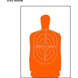 24 Pcs of B-29 Qualification Target 50 Foot Reduction Of B-27 Police Silhouette Orange Size: 11.5