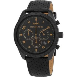 Keaton Chronograph Quartz Black Dial Mens Watch - Black - Michael Kors Watches found on Bargain Bro India from lyst.com for $179.00