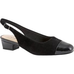 Extra Wide Width Women's Dea Slingbacks by Trotters in Black Metallic (Size 8 WW) found on Bargain Bro Philippines from Roamans.com for $99.99