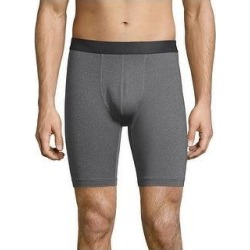 Hanes Sport Men's Performance Compression Shorts (Charcoal Heather/Ebony - M), Grey Grey/Ebony(polyester) found on Bargain Bro from Overstock for USD $15.20