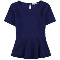 Calvin Klein Womens Texture Dots Peplum Blouse, Blue, X-Small (Blue), Women's(polyester, solid) found on Bargain Bro Philippines from Overstock for $21.76