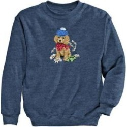 Women's Dog Graphic Sweatshirt, Vintage Heather Blue/Dog S Misses found on Bargain Bro Philippines from Blair.com for $24.99