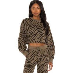 Bali Tiger Hyper Reality Knit Balloon Sleeve Sweatshirt - Brown - TWENTY MONTREAL Sweats found on Bargain Bro from lyst.com for USD $110.20