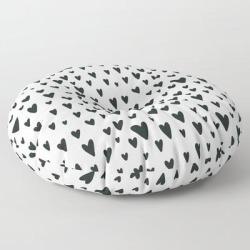 "Floor Pillow | Black And White Scandinavian Nursery Prints Patterns by Creativebabies - ROUND - 30"" x 30"" - Society6"
