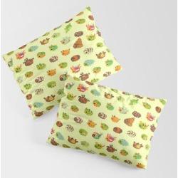 Caterpillar King Size Pillow Sham by Pikaole - STANDARD SET OF 2 - Cotton