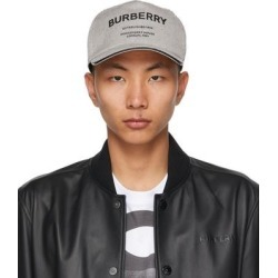 Black & White Canvas 'horseferry' Baseball Cap - Black - Burberry Hats found on Bargain Bro from lyst.com for USD $395.20