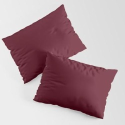 Pillow Sham | Dark Burgundy - Pure And Simple by The Black Emporium - STANDARD SET OF 2 - Cotton - Society6 found on Bargain Bro from Society6 for USD $30.39