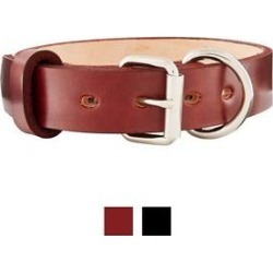 BlackJacks Leather Large Breeds Dog Collar, Mahogany, 16-19 in, 1 1/4 in found on Bargain Bro Philippines from Chewy.com for $47.54