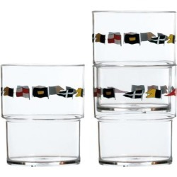 Regata Stackable Glass - Set of 12 found on Bargain Bro from Overstock for USD $47.87